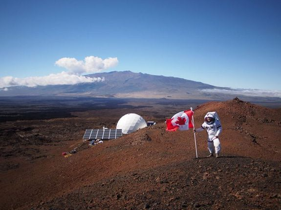 Canada Day is celebrated during the second Hi-SEAS mission in Hawaii.
