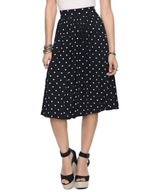 Polka Dot Swing Skirt