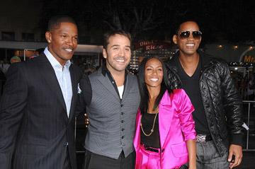 Jamie Foxx , Jeremy Piven , Jada Pinkett Smith and Will Smith at the Westwood Premiere of Universal Pictures' The Kingdom