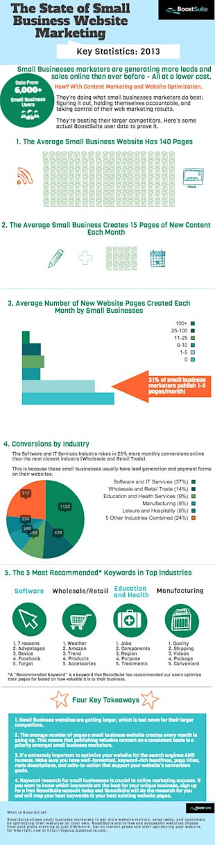 The State of Small Business Website Marketing – Infographic image infographic