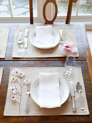 2. Polished Placemats