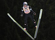Austria's Thomas Morgenstern competes during the FIS ski jumping world cup in Titisee-Neustadt, southern Germany, on December 14, 2013