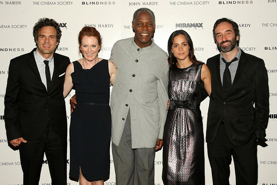 Blindess Screening 2008 NY Mark Ruffalo Julianne Moore Danny Glover Alice Braga Don McKellar