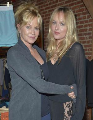 Melanie Griffith and daughter Dakota Johnson attend Danny Masterson And Rock Paper Photo Present 'Icons, Old & New' A Fine Art Photography Exhibit at Confederacy on June 28, 2012 in Los Angeles  -- Getty Images