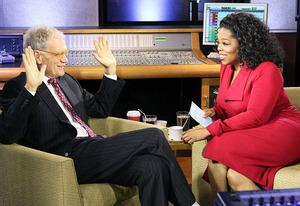 David Letterman and Oprah Winfrey | Photo Credits: Harpo Studios/OWN