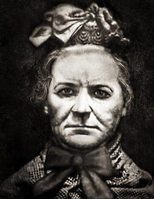 A shocking report from the 'Illustrated Police News' features a sketch of Amelia Dyer. She is believed to have murdered 400 babies. She would strangle the poor children with a ribbon and throw them in