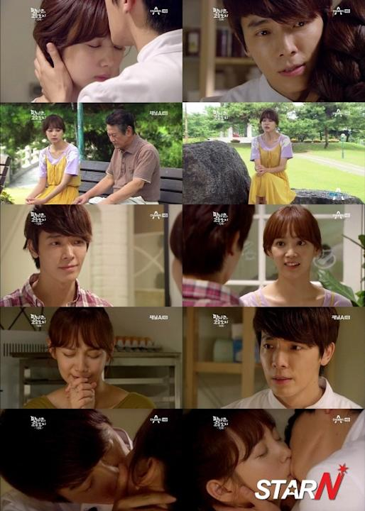 'Panda and Hedgehog' Dong Hae and Yoon Seung Ah shares a romantic kiss