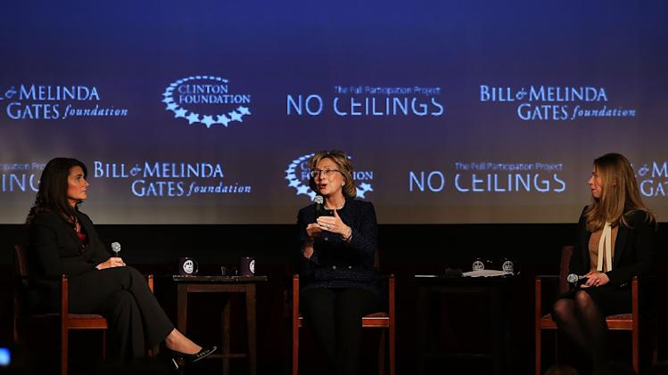 Hillary Clinton And Melinda Gates Speak At Forum Moderated By Chelsea Clinton