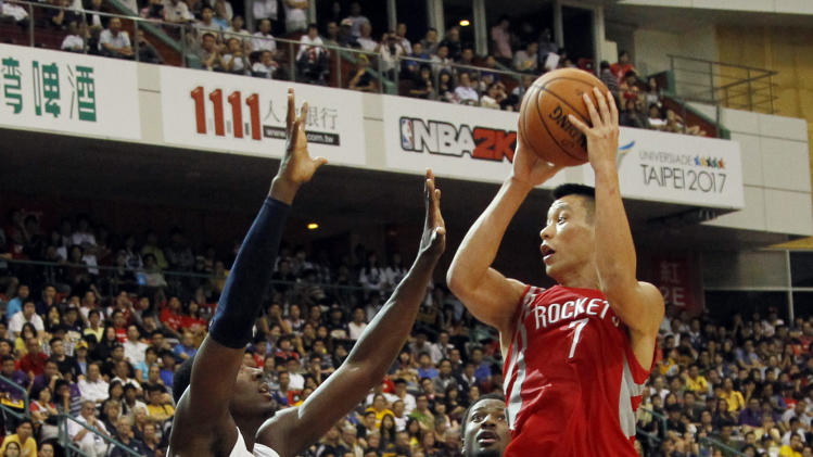 Lin leads Rockets in Taiwan; top Pacers 107-98
