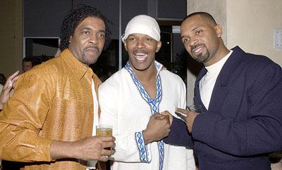Ron Lang , Jamie Foxx and Mike Epps at the LA premiere of All About The Benjamins