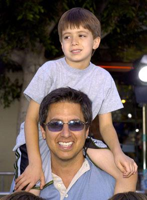 Ray Romano and son at the L.A. premiere of Dreamworks' Shrek 2