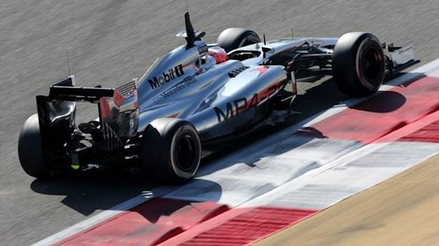 Jenson Button's 2014 McLaren at Bahrain