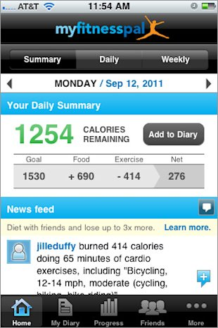 The Five Must Have Mobile Apps to Survive Holiday Shopping and Traveling image 270329 myfitnesspal for iphone landing page 1