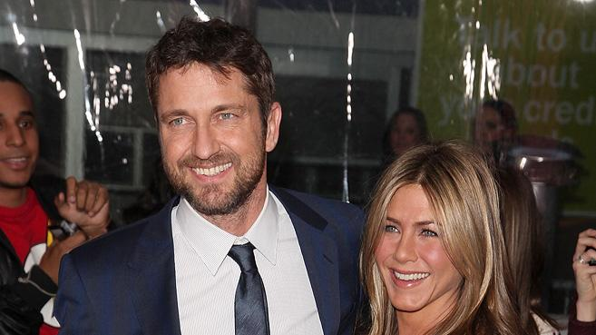 The Bounty Hunter NY Premiere 2010 Gerard Butler Jennifer Aniston