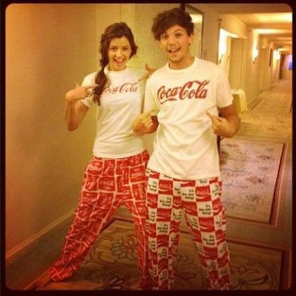 Louis Tomlinson & Eleanor Calder Have Matching Pajamas — So In Love