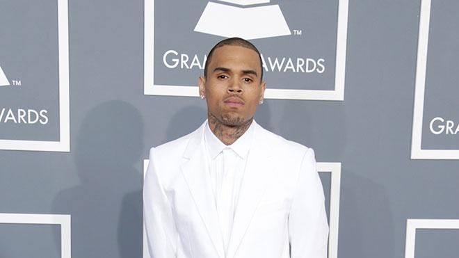 The 55th Annual GRAMMY Awards - Red Carpet: Chris Brown