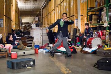 Gina Mantegna , Tyler J. Williams and Dyllan Christopher in Warner Bros. Unaccompanied Minors
