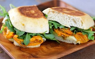 Roasted Tomato and Arugula Grilled Cheese