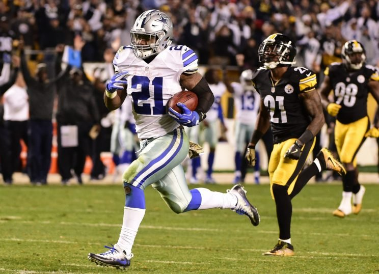 Ezekiel Elliott's game-winning touchdown against the Steelers was one of the enduring NFL moments of 2016. (AP)