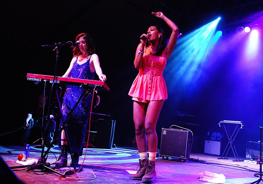 Jamming out with Solange Knowles at the 2009 Bonnaroo Fesitval