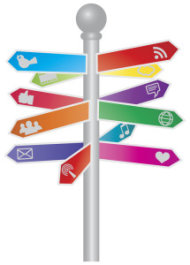 Effective Marketing Allows Customers To Accept Your Message Voluntarily image Social Media Sign Post 215x300