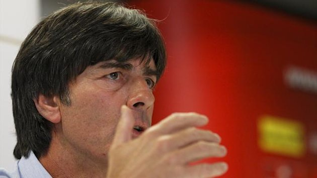 Germany's national soccer team head coach Joachim Loew addresses a news conference ahead of the 2014 FIFA World Cup qualifying match against Austria (Reuters)