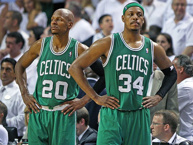 Ray Allen and Paul Pierce. (Getty Images)