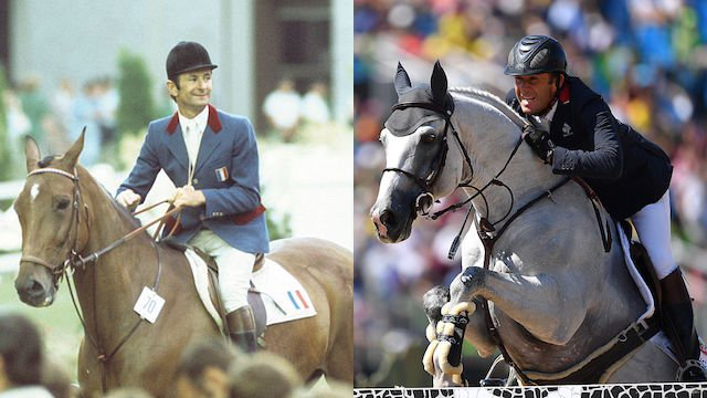 French riders Jean-Marcel (left) and Philippe Rozier won Olympic show jumping gold medals 40 years apart. (Getty Images)