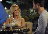 "In this March 20, 2012 image released by ABC, Emily Maynard, left is shown on ""The Bachelorette,"" in Charlotte, N.C. Maynard talks about what she's doing differently this time around as ABC's ""Bachelorette."" She got engaged last year to Brad Womack in the season finale of ""The Bachelor"" but their relationship didn't work out. (AP Photo/ABC, Angeline Herron)"