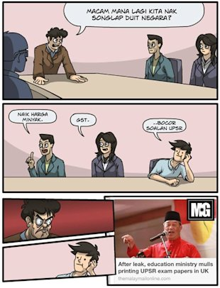 Comic strip from Malaysian Gags on facebook.com