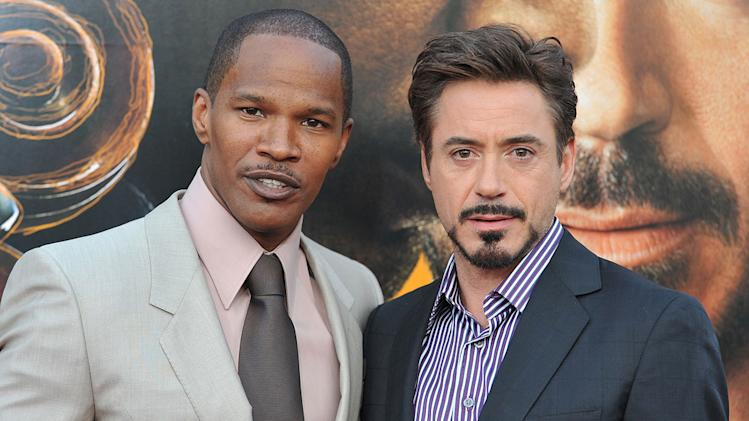 The Soloist LA Premiere 2009 Jamie Foxx Robert Downey jr.