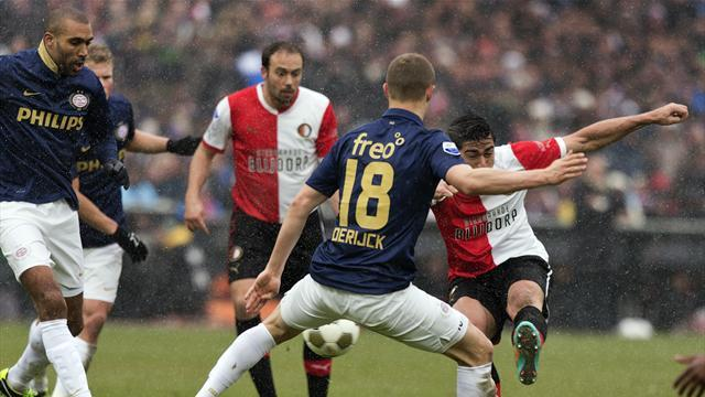 World Football - Second-half goals give Feyenoord win over leaders PSV