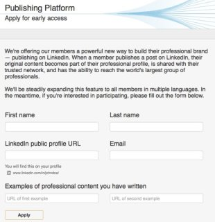 How I Got My Post Featured On LinkedIn's Publishing Platform image linkedin publishing platform access 581x600