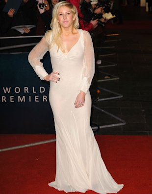 Ellie Goulding Bares Nipples And Knickers In See-Through White Gown At Les Miserables Premiere