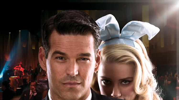 "Eddie Cibrian as Nick and Amber Heard as Maureen in ""The Playboy Club."""
