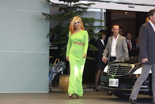 Now Lady Gaga Wears A Lime Green Dress - Is Her Style Going Off The Boil?