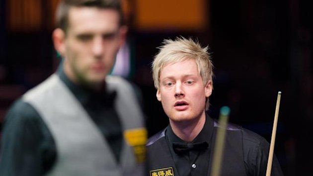 Neil Robertson in the Masters final against Mark Selby (AFP)