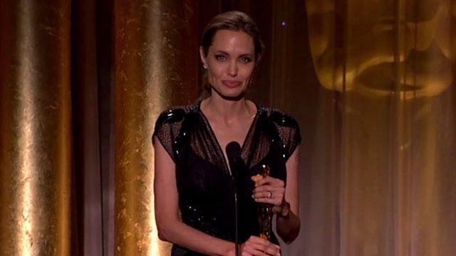 WATCH: Angelina Gets Emotional Accepting Award