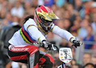 French BMX rider Magalie Pottier competes at the BMX race track at the French 2012 BMX Championship women Elite final in July. Pottier will be among the riders aiming to stop Britain bagging more Olympic cycling gold from the BMX events later this week