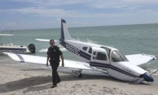 Girl Hit By Crashing Plane On Beach Dies