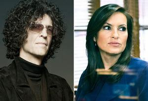Howard Stern, Mariska Hargitay  | Photo Credits: Mark Seliger/NBC, Michael Parmelee/NBC