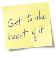 Are You Performing Heart Bypass Surgery on Your Team? image side postit get to the heart of it