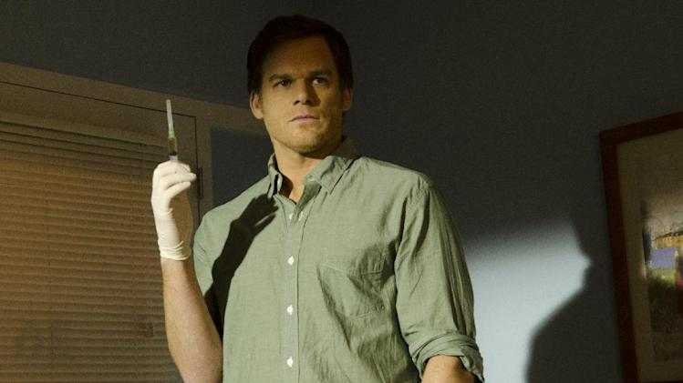 "This undated publicity image released by Showtime shows Michael C. Hall as Dexter Morgan in a scene from the final season of ""Dexter,"" airing Sundays at 9 p.m. EST on Showtime. (AP Photo/Showtime, Randy Tepper)"