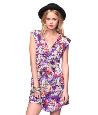 Abstract Capsleeve Dress, $19.80