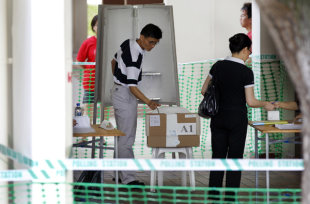 Final tally of votes are released by Elections Department. (AP Photo)