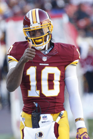 An ankle injury and poor play have dogged Robert Griffin III this season. (USA TODAY Sports)