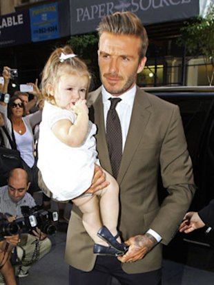 David Beckham and his adorable daughter Harper.