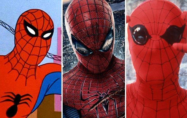 Changing faces of Spidey