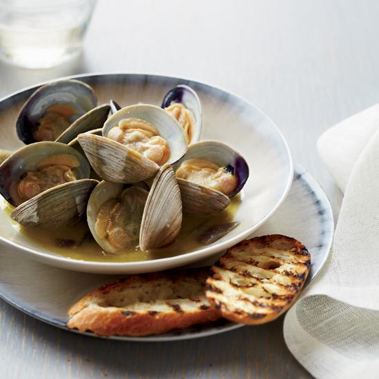 Foie Gras-Steamed Clams