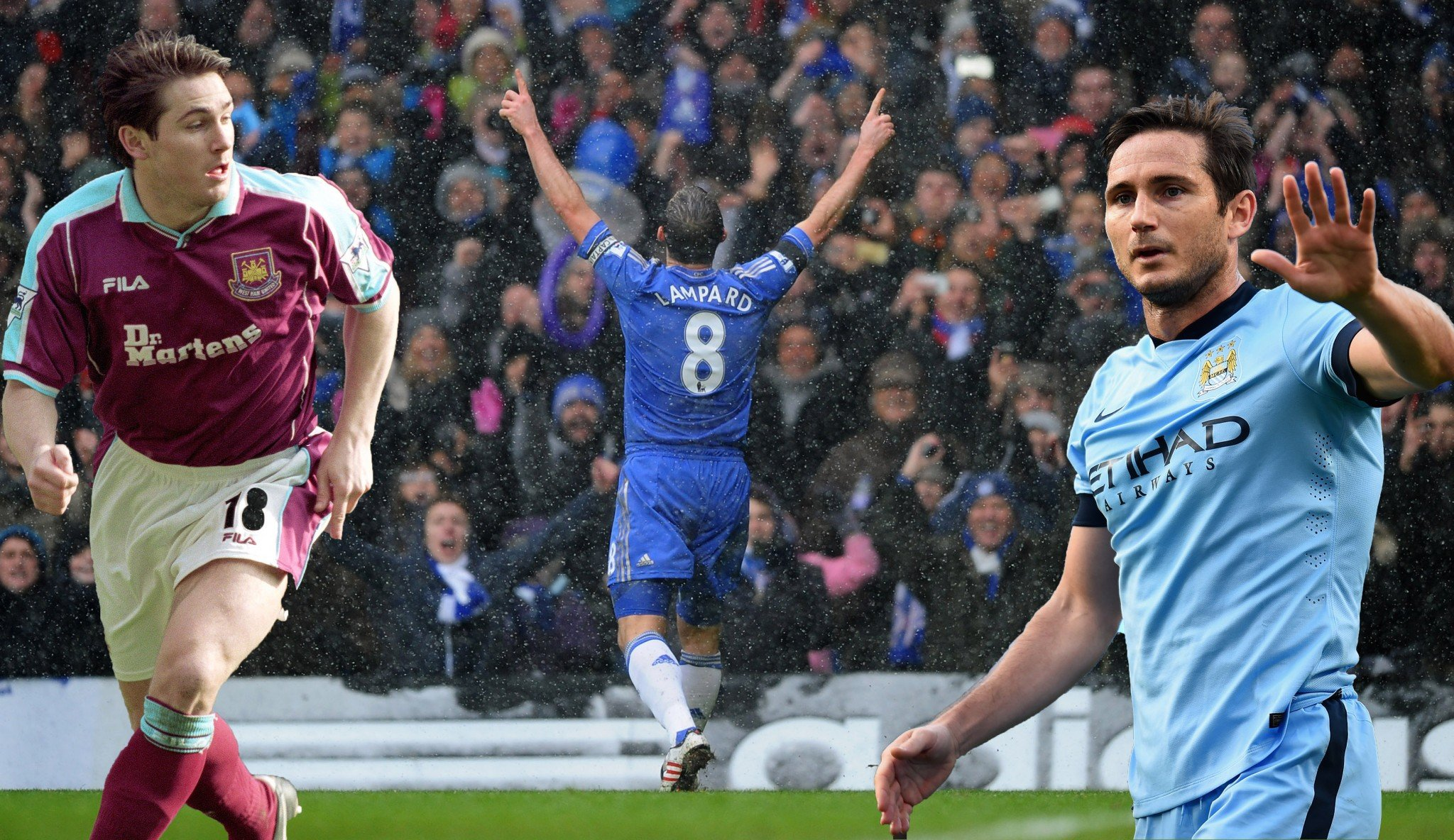 Frank Lampard starred for West Ham, Chelsea and Manchester City